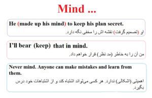 افعال پرکاربرد در زبان انگلیسی mind 2